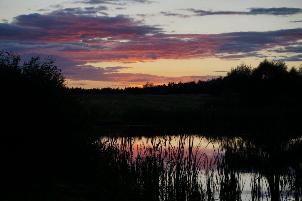 Zachód słońca na Warmii 2017